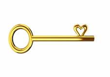 Η καρδιά διαμόρφωσε το χρυσό κλειδί διανυσματική απεικόνιση