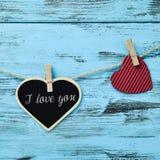 Η καρδιά και το κείμενο ι σας αγαπούν Στοκ φωτογραφία με δικαίωμα ελεύθερης χρήσης