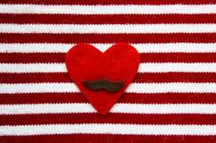 Η καρδιά με ένα moustache Στοκ φωτογραφίες με δικαίωμα ελεύθερης χρήσης