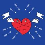 Η καρδιά προστατεύεται από τα βέλη Στοκ Εικόνα