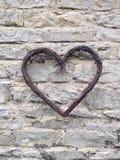 Η καρδιά στον τοίχο Στοκ Εικόνες