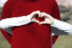 Η καρδιά το έκανε τα χέρια Στοκ Φωτογραφίες