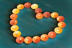 Η καρδιά των κεριών Στοκ Φωτογραφία