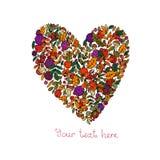 Η καρδιά των φύλλων φθινοπώρου Στοκ φωτογραφίες με δικαίωμα ελεύθερης χρήσης