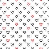 Η καρδιά υπογράφει το άνευ ραφής σχέδιο Στοκ εικόνα με δικαίωμα ελεύθερης χρήσης