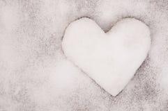 Η καρδιά χιονιού Στοκ Φωτογραφία