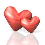 Η καρδιά δύο σημάδια αγκαλιάζει στοργικά. ελεύθερη απεικόνιση δικαιώματος