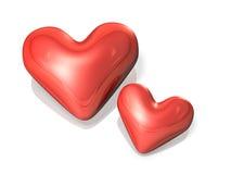 Η καρδιά δύο σημάδια αγκαλιάζει στοργικά. απεικόνιση αποθεμάτων