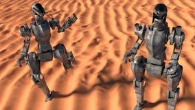 Η κατάκτηση χαλά: πόλεμοι ρομπότ Στοκ Εικόνα