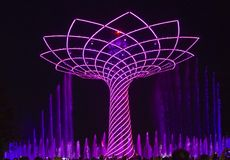 Η κατάπληξη παρουσιάζει του δέντρου της ζωής σε EXPO το 2015 Στοκ φωτογραφία με δικαίωμα ελεύθερης χρήσης