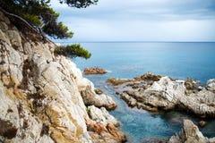 η Καταλωνία de landscape lloret χαλά την Ι&sigma Στοκ Φωτογραφίες