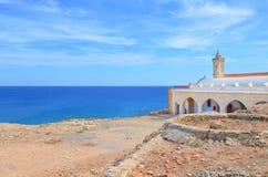 Η καταπληκτική άποψη της Ορθόδοξης Εκκλησίας Απόστολος Andreas Monastery εντόπισε στη χερσόνησο Karpasia, τουρκική βόρεια Κύπρος στοκ φωτογραφία με δικαίωμα ελεύθερης χρήσης