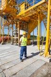 η κατασκευή απομόνωσε το συμπαθητικό εργαζόμενο εξαρτήσεων Στοκ Εικόνες