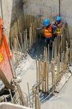 η κατασκευή απομόνωσε το συμπαθητικό εργαζόμενο εξαρτήσεων Στοκ Φωτογραφία
