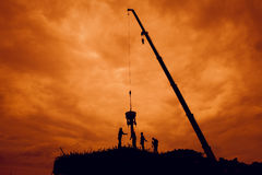 η κατασκευή εισάγει όχι τη ζώνη εργασίας Στοκ φωτογραφίες με δικαίωμα ελεύθερης χρήσης