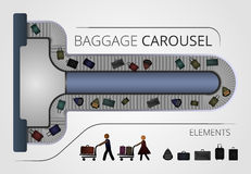 Η κατασκευή ιπποδρομίων αποσκευών Στοκ φωτογραφία με δικαίωμα ελεύθερης χρήσης