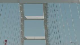 Η κατασκευή της της Κριμαίας γέφυρας Επίστρωση ασφάλτου Οδικές εργασίες για τη γέφυρα απόθεμα βίντεο