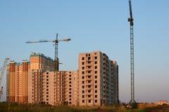 Η κατασκευή της πολυκατοικίας Στοκ Εικόνες