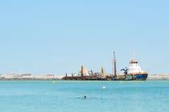 Η κατασκευή του ματιού του Ντουμπάι 210 μέτρου Στοκ Φωτογραφίες