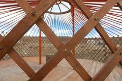 Η κατασκευή του yurt στοκ εικόνες με δικαίωμα ελεύθερης χρήσης