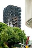 Η καταστροφή πυρκαγιάς φραγμών πύργων Grenfell Στοκ φωτογραφία με δικαίωμα ελεύθερης χρήσης