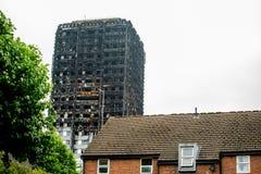 Η καταστροφή πυρκαγιάς φραγμών πύργων Grenfell Στοκ φωτογραφίες με δικαίωμα ελεύθερης χρήσης