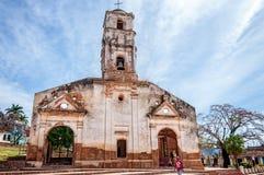 Η καταστροφή της εκκλησίας Αγίου Ann - Τρινιδάδ, Κούβα Στοκ Εικόνες