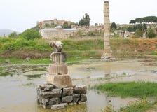 η καταστροφή του ναού της Artemis Στοκ Εικόνα