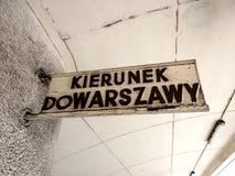 Η κατεύθυνση της Βαρσοβίας Στοκ Φωτογραφίες