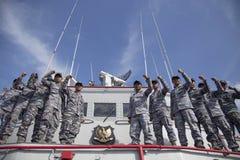 Η κατεδάφιση των ψαριών ληστεύει το σκάφος ΒΙΚΙΝΓΚ στην Ινδονησία Στοκ φωτογραφία με δικαίωμα ελεύθερης χρήσης
