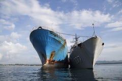 Η κατεδάφιση των ψαριών ληστεύει το σκάφος ΒΙΚΙΝΓΚ στην Ινδονησία Στοκ εικόνες με δικαίωμα ελεύθερης χρήσης