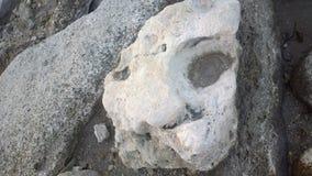 Η κατοχή ενός πραγματικού προσώπου για μια πέτρα είναι καταπληκτική Στοκ εικόνες με δικαίωμα ελεύθερης χρήσης