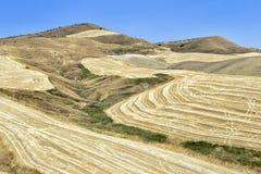Η καυτή έρημος της Σικελίας Στοκ φωτογραφία με δικαίωμα ελεύθερης χρήσης