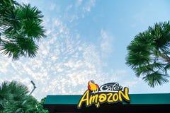 Η καφετερία στο Αμαζόνιο είναι δημοφιλής στην Ταϊλάνδη να αγοράσει ένα ποτό στοκ φωτογραφίες