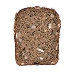 Η καφετιά φέτα ψωμιού απομόνωσε το άσπρο υπόβαθρο Στοκ Εικόνα
