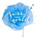 Η καλλιγραφία σώζει το παγκόσμιο χέρι Στοκ Εικόνες