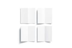 Η κενή άσπρη multi-page χλεύη βιβλιάριων επάνω, άνοιξε τη τοπ άποψη Στοκ Εικόνα