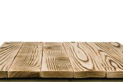 Η κενή ελαφριά ξύλινη επιτραπέζια κορυφή απομονώνει Στοκ Εικόνες