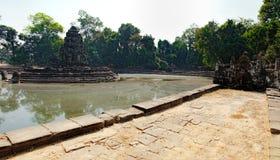 Η κεντρική λίμνη σε Neak Pean σε Angkor σύνθετο Στοκ φωτογραφία με δικαίωμα ελεύθερης χρήσης