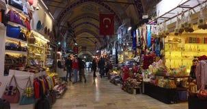 Η κεντρική και μεγαλύτερη πόλη στο μεγάλο Bazaar, με πολλά καταστήματα και εργαστήρια απόθεμα βίντεο