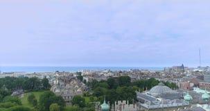 Η κεραία εκδιώκει την άποψη της πόλης του Μπράιτον και ανυψωμένος, Αγγλία Γύρω από το βασιλικό περίπτερο και το θόλο φιλμ μικρού μήκους
