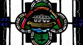 Η κιβωτός του Νώε στο λεκιασμένο γυαλί Στοκ Φωτογραφία