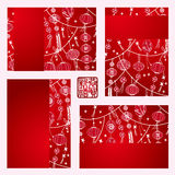 Η κινεζική ευχετήρια κάρτα φαναριών Στοκ Φωτογραφία