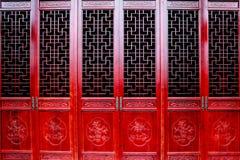 Η κινεζική παλαιά πόρτα Στοκ φωτογραφία με δικαίωμα ελεύθερης χρήσης
