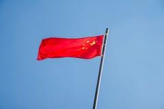 Η κινεζική σημαία Στοκ Φωτογραφίες