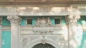 Η κινηματογράφηση σε πρώτο πλάνο από τον κηφήνα των λεπτομερειών αρχιτεκτονικής του παλατιού Abaza έχτισε το 1858 μέσα την Οδησσό φιλμ μικρού μήκους