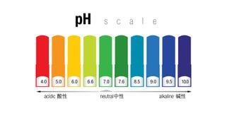 Η κλίμακα χρώματος pH στοκ εικόνες