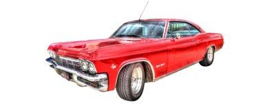 Η κλασική αμερικανική δεκαετία του '60 Chevy Impala που απομονώνεται σε ένα άσπρο υπόβαθρο στοκ φωτογραφία