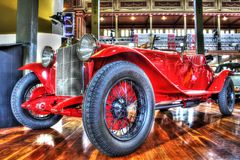 Η κλασική δεκαετία του '20 η ιταλική Alfa Romeo Zagato Στοκ Εικόνα