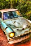 Η κλασική μπλε Ford Anglia Στοκ Εικόνες